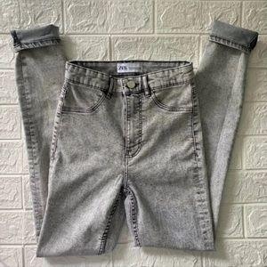 ZARA: Gray High Waisted Skinny Jeans